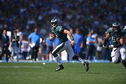 The Philadelphia Eagles beat the San Diego Chargers 26-24 at Stubhub Center on October 1, 2017 in Carson, California.  (Photo by Drew Hallowell/Philadelphia Eagles)