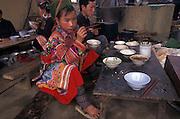 Hmong hill tribe children, Sapa, Vietnam