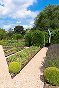 Garden path in Raymond Blanc's organic home-grown vegetable and herb garden at hotel Le Manor Aux Quat' Saisons in Oxfordshire, UK