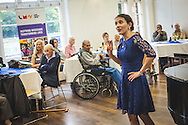 Live Music Now's Songs and Scones programme brings together isolated and vulnerable older people who live in the community or in care homes for an afternoon of music, afternoon tea and conversation. Mills Centre in London, Oct. 06, 2015 (Photos/Ivan Gonzalez)