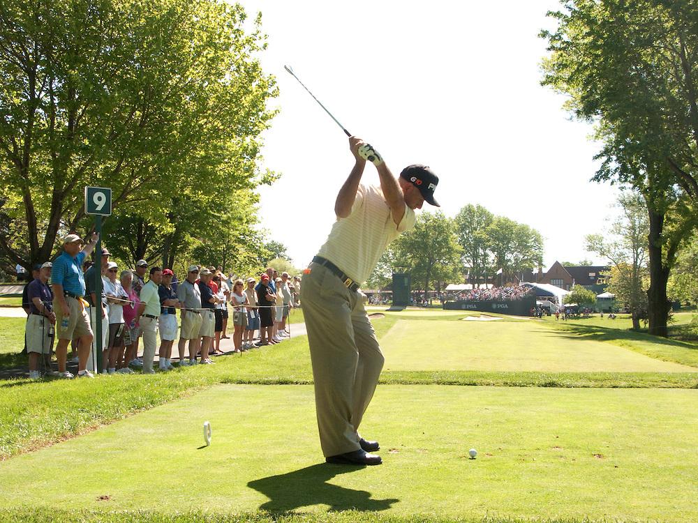 Mark James. 2009 Senior PGA Championship, Round 1. Pghotographed at Canterbury Golf Club in Beachwood, Ohio on Thursday, May 21 2009. Photograph © 2009 Darren Carroll