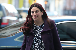 © Licensed to London News Pictures. 24/02/2019. London, UK. Independent Group MP Luciana Berger arrives at BBC Broadcasting House to appear on The Andrew Marr Show. Photo credit: Rob Pinney/LNP