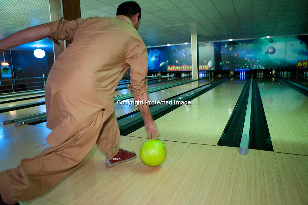 'strikers' is the first and only bowling alley in afghanistan