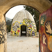 Graffitis at the Meditation cells on top of the Beatles Ashram (Academy of Meditation ) in Rishikesh. In 1968, members of the Beatles and their wives practiced Transcendental Meditation under the guidance of Maharishi Mahesh Yogi.