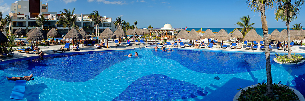 Pool at Excellence Playa Mujeres Resort at Playa Mujeres, north of Cancun, Quintana Roo, Mexico