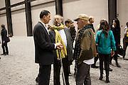 ANTHONY GORMLEY;  STUART EVANS; JOHNNIE WALKER;, Ai Weiwei Unilever series opening. Tate Modern. 11 October 2010. -DO NOT ARCHIVE-© Copyright Photograph by Dafydd Jones. 248 Clapham Rd. London SW9 0PZ. Tel 0207 820 0771. www.dafjones.com.