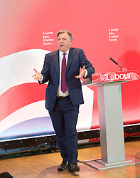 Ed Miliband <br /> leader of the Labour Party <br /> speech at RIBA Royal Institute of British Architecture, London, Great Britain <br /> 29th April 2015 <br /> General Election Campaign 2015 <br /> <br /> <br />  Ed Balls <br /> <br /> <br /> <br /> Photograph by Elliott Franks <br /> Image licensed to Elliott Franks Photography Services