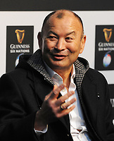 Rugby Union - 2020 Guinness Six Nations Launch Press Conference - Tobacco Dock, London<br /> <br /> England coach, Eddie Jones<br /> <br /> COLORSPORT/ANDREW COWIE