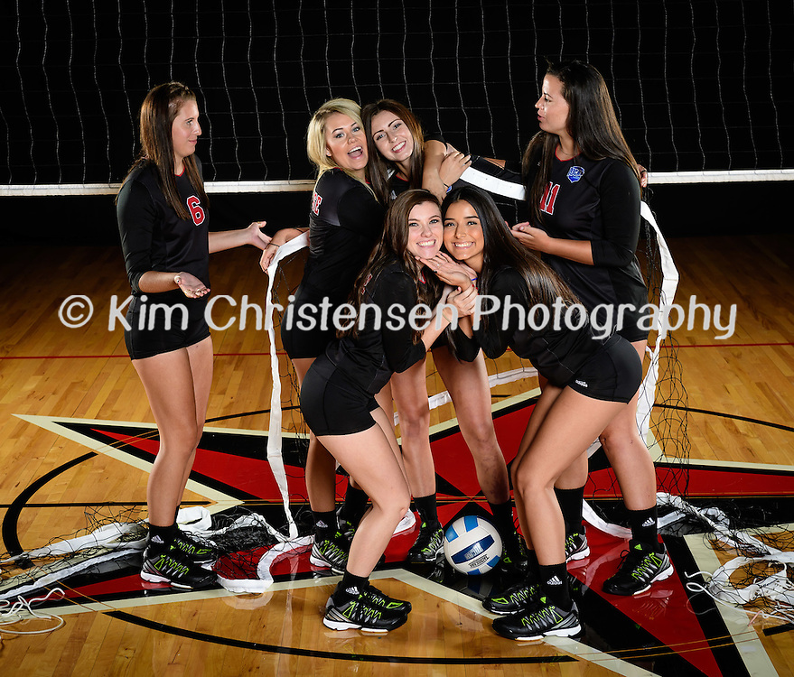 Lee College 2016 Volleyball team and individual.  08/08/16.   (Photos by ©Kim Christensen)