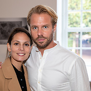 NLD/Amsterdam/20190909 - Boekpresentatie Baantjer, Igone de Jongh en partner Thijs Romer