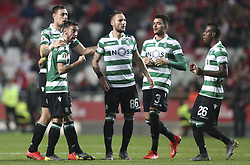 February 7, 2019 - Na - Lisbon, 06/02/2019 - SL Benfica received this evening the Sporting CP in the Stadium of Light, in game the account for the first leg of the Portuguese Cup 2018/19 semi final. Bruno Fernandes celebrates after scoring the 2-1  (Credit Image: © Atlantico Press via ZUMA Wire)