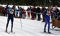 Langrenn ,Birkebeinerrennet   19 mars  2005 , Birkebeineren Skistadion  <br /> <br /> <br /> Odd-Bjørn Hjelmeset , Fjellhug/Vereide IL og Stanislav Rezac , Tsjekkia spurtet om seieren