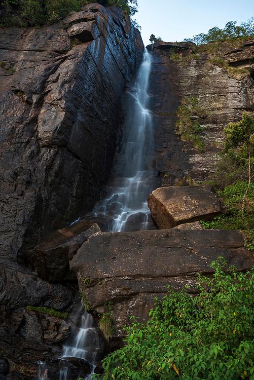 Lover's Leap Waterfall in Nuwara Eliya, Sri Lanka