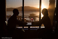 Sunset dinner at Lodge @ Whitefish Lake Resort in Whitefish Montana