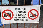 No Photography sign photographed Costa Brava, Catalonia, Spain