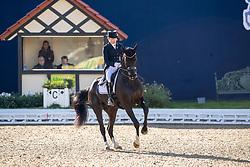 FABRICIUS-BJERRE Mikaela (FIN), Skovlunds Gamin G<br /> Hagen - Horses and Dreams 2019<br /> Grand Prix de Dressage CDI4* Special Tour<br /> 27. April 2019<br /> © www.sportfotos-lafrentz.de/Stefan Lafrentz