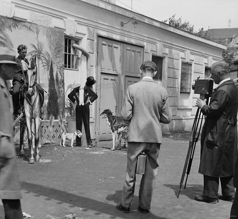 Street photographers at the Prater, Vienna, Austria, 1933