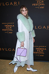 NEW YORK, NY - APRIL 26: Sofia Resing at BVLGARI World Premiere of The Conductor and The Litas at iPIC Theaters on April 26, 2018 in New York City. 26 Apr 2018 Pictured: Suki Waterhouse. Photo credit: MPI99/Capital Pictures / MEGA TheMegaAgency.com +1 888 505 6342