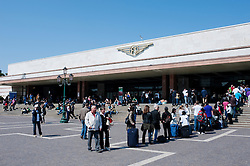 Exterior of Venice Santa Lucia railway station in Italy