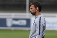 England manager Gareth Southgate watching his players during the training session for England at St George's Park National Football Centre, Burton-Upon-Trent, United Kingdom on 28 May 2019.