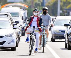 Robert Downey Jr. rides a bike - 4 June 2020