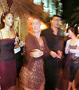 Veronica Webb and Petrina Khashoggi, outside the Carlton Hotel. Cannes. 1.30am. 16 May 1998.<br />