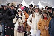 Spectators at White Turf 2011 horse  racing event in St Moritz, Switzerland.