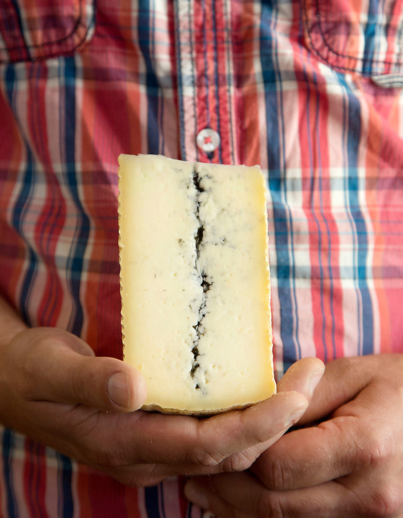 The Headwaters Tomme cheese of Kokoborrego Cheese Co. in Mt. Gilead. (Will Shilling/CRAVE)