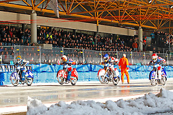 13.03.2016, Assen, BEL, FIM Eisspeedway Gladiators, Assen, im Bild Yegor Myshkovets (RUS), Dimitry Khomitsevich (RUS), Daniil Ivanov (RUS), Dimitry Koltakov (RUS) // during the Astana Expo FIM Ice Speedway Gladiators World Championship in Assen, Belgium on 2016/03/13. EXPA Pictures © 2016, PhotoCredit: EXPA/ Eibner-Pressefoto/ Stiefel<br /> <br /> *****ATTENTION - OUT of GER*****