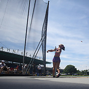 Yaimí Perez, Cuba, in action in the Women's Discus throw event during the Diamond League Adidas Grand Prix at Icahn Stadium, Randall's Island, Manhattan, New York, USA. 13th June 2015. Photo Tim Clayton