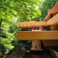 """""""View of Fallingwater""""<br /> <br /> A closeup of one of the sections of Fallingwater in PA."""