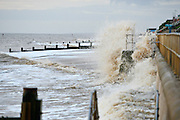 © Licensed to London News Pictures. 30/11/2013. Southwold, UK Crashing waves on the seafront in Southwold, Suffolk today, 30 November 2013. Photo credit : Stephen Simpson/LNP