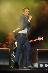 © Licensed to London News Pictures. 16/07/2015<br /> Rochester Castle Concerts,Rochester,Kent<br /> Peter Andre singing<br /> (Byline:Grant Falvey/LNP)