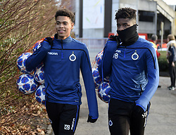December 10, 2018 - Bruges, Belgique - BRUGGE, DECEMBER 10 : Cyril Ngonge of Club Brugge and Brandon Baiye midfielder of Club Brugge  pictured during practice session the day before the UEFA Champions League group A match between Club Brugge KV and Atletico Madrid on December 10, 2018 in Brugge, 10/12/2018 (Credit Image: © Panoramic via ZUMA Press)
