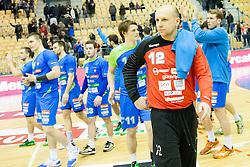 Gorazd Skof of Slovenia during friendly handball match between National Teams of Slovenia and F.Y.R. of Macedonia before EHF EURO 2016 in Poland on January 5, 2016 in Arena Zlatorog, Celje, Slovenia. Photo by Urban Urbanc / Sportida