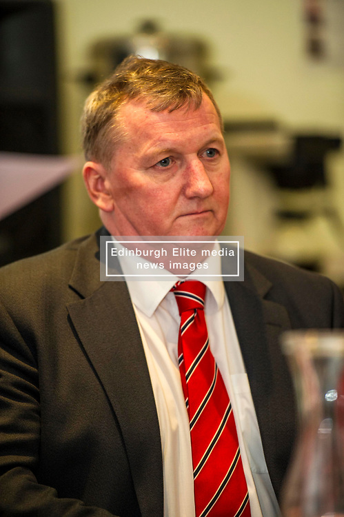 Pictured: Alex Rowley<br /> Scottish Labour deputy leader Alex Rowley was joined by Edinburgh City Council leader Andrew Burns at the Serenity Cafe in Edinburgh today to launch the party's local government election manifesto. <br /> Ger Harley   EEm 21 March 2017