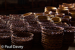 Wicker baskets on sale in Madeira. MADEIRA, September 25 2018. © Paul Davey