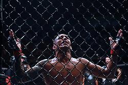September 22, 2018 - Sao Paulo, Sao Paulo, Brazil - Sao Paulo, Sao Paulo, Brazil - Sep, 2018 - Fighting between fighters CHARLES DO BRONX (BRA) and CHRISTOS GIAGOS (USA) during UFC Fight Night São Paulo, this Saturday (22), at the Ibirapuera gymnasium in São Paulo. (Credit Image: © Marcelo Chello/ZUMA Wire)