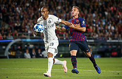 October 24, 2018 - Barcelona, Spain - Arthur and Joan Miranda during the match between FC Barcelona and Inter, corresponding to the week 3 of the group stage of the UEFA Champions Leage, played at the Camp Nou Stadium, on 24th October 2018, in Barcelona, Spain. (Credit Image: © Joan Valls/NurPhoto via ZUMA Press)