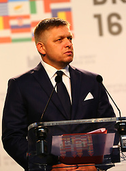 BRATISLAVA, Sept. 17, 2016 (Xinhua) -- Slovak Prime Minister Robert Fico speaks at a press conference after an informal European Union (EU) summit in Bratislava, Slovakia, Sept. 16, 2016. EU members on Friday issued a joint declaration, formulating a road map for the bloc to tackle challenges, said Robert Fico. (Xinhua/Gong Bing) (wtc) (Credit Image: © Gong Bing/Xinhua via ZUMA Wire)
