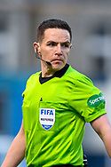 Referee David Munro during the SPFL Championship match between Raith Rovers and Heart of Midlothian at Stark's Park, Kirkcaldy, Scotland on 30 April 2021.