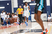 THOUSAND OAKS, CA Sunday, August 12, 2018 - Nike Basketball Academy. Tyrese Maxey 2019 #14 of South Garland HS dribbles the ball. <br /> NOTE TO USER: Mandatory Copyright Notice: Photo by John Lopez / Nike