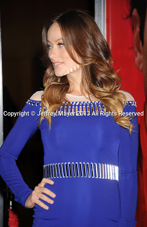 LOS ANGELES, CA- DECEMBER 12: Actress Olivia Wilde arrives at the 'Her' Los Angeles Premiere - Arrivals at Directors Guild Of America on December 12, 2013 in Los Angeles, California.