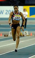 Photo: Richard Lane.<br />Norwich Union International, Glasgow. 27/01/2007. <br />Great Britain's Joice Maduaka in the womens 60m.