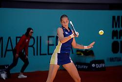 May 5, 2019 - Madrid, Spain - Karolina Pliskova (CZE) in her match against Dayana Yastremska (UKR) during day two of the Mutua Madrid Open at La Caja Magica in Madrid on 5th May, 2019. (Credit Image: © Juan Carlos Lucas/NurPhoto via ZUMA Press)