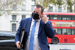 © Licensed to London News Pictures. 16/11/2020. London, UK. Chief Whip Mark Spencer arrives at the Cabinet Office. Photo credit: George Cracknell Wright/LNP