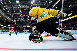 Christopher Terry vs Dennis Karlsson at IIHF In-Line Hockey World Championships Top Division Bronze medal game between National teams of Canada and Sweden on July 4, 2010, in Karlstad, Sweden. (Photo by Matic Klansek Velej / Sportida)