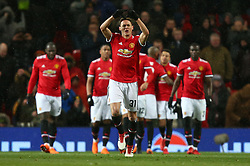 Manchester United's Nemanja Matic celebrates scoring his side's second goal of the game