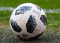 Football - 2018 International Friendly (pre-World Cup warm-up) - England vs. Nigeria<br /> <br /> The World Cup football sits on the grass at Wembley Stadium.<br /> <br /> COLORSPORT/DANIEL BEARHAM
