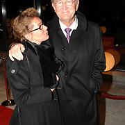 NLD/Hilversum/20061201 - Opening Nederlands Instituut voor Beeld en Geluid, Joop van der Ende en partner Janine Klijberg